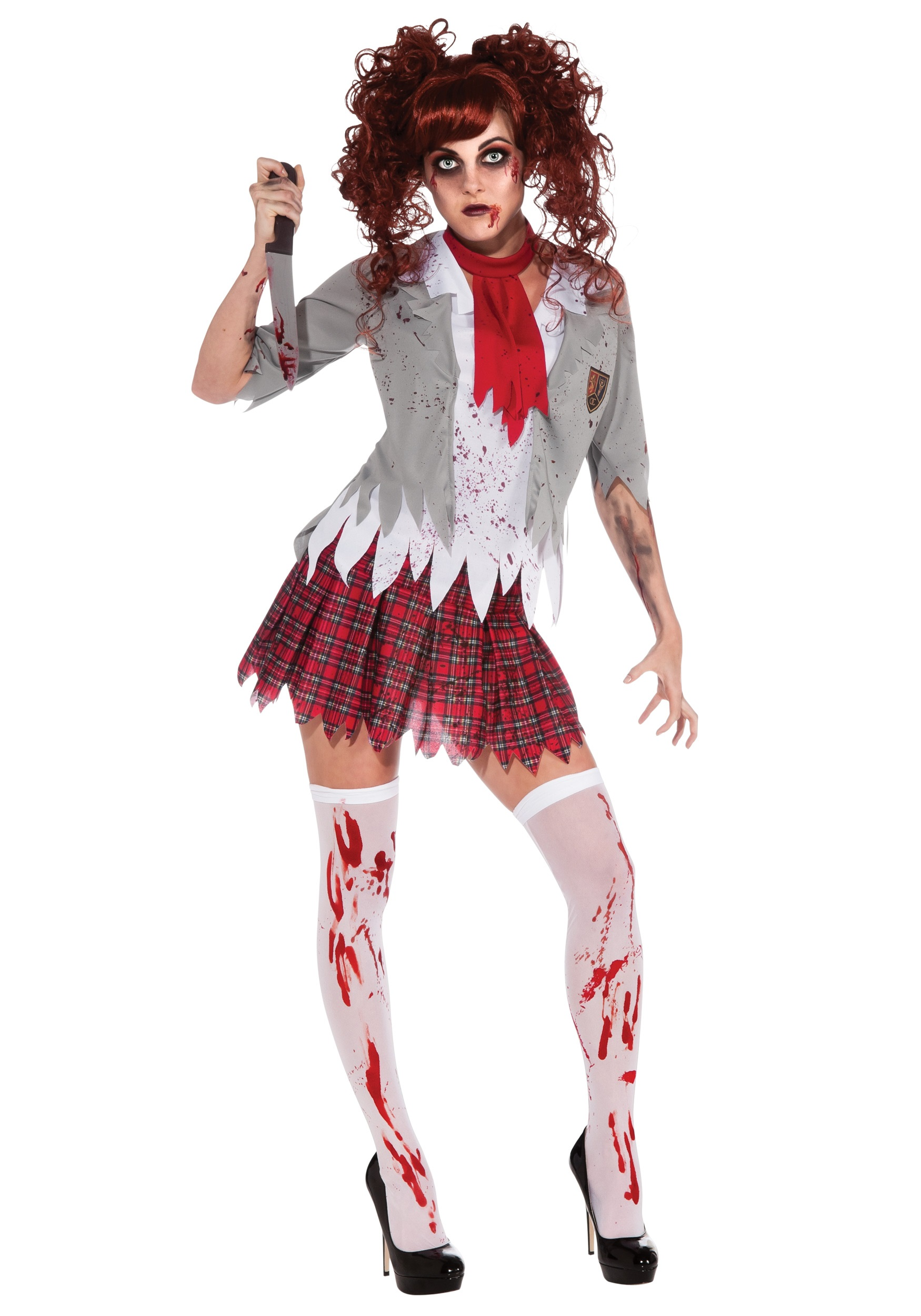 Zombie School Girl Costume  sc 1 st  Halloween Costumes : halloween girls costume  - Germanpascual.Com