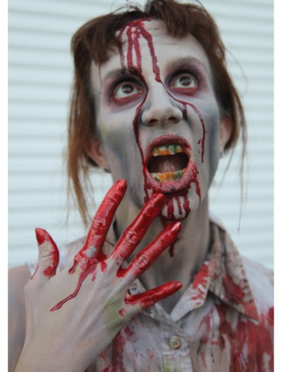 Zombie Teeth w/Fake Blood, halloween costume (Zombie Teeth w/Fake Blood)