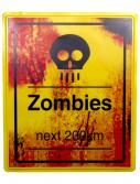 Zombies Next 200 KM Sign, halloween costume (Zombies Next 200 KM Sign)