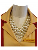 2 Broke Girls Caroline's Pearl Necklace, halloween costume (2 Broke Girls Caroline's Pearl Necklace)