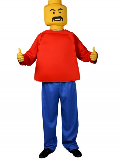 Adult Mr. Blockhead Original Costume, halloween costume (Adult Mr. Blockhead Original Costume)