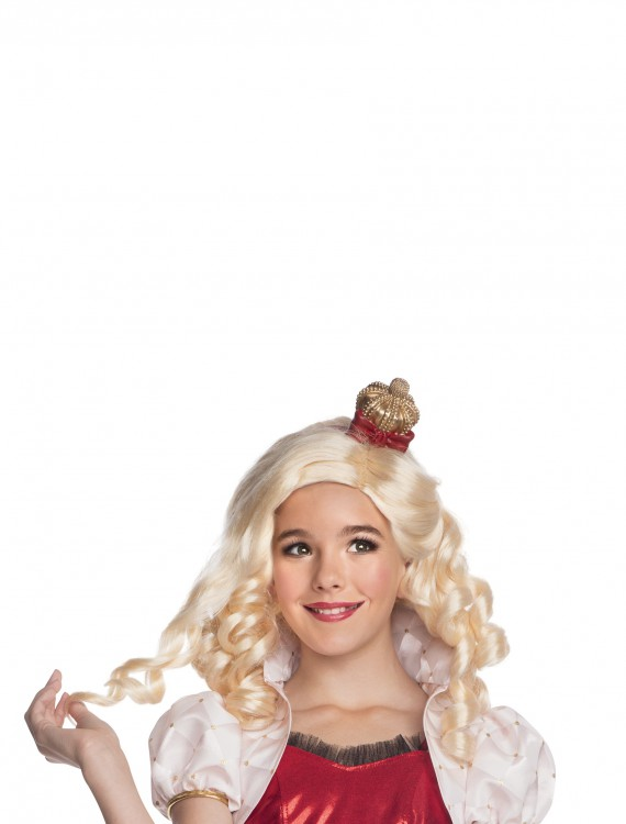 Apple White Wig w/ Headpiece, halloween costume (Apple White Wig w/ Headpiece)