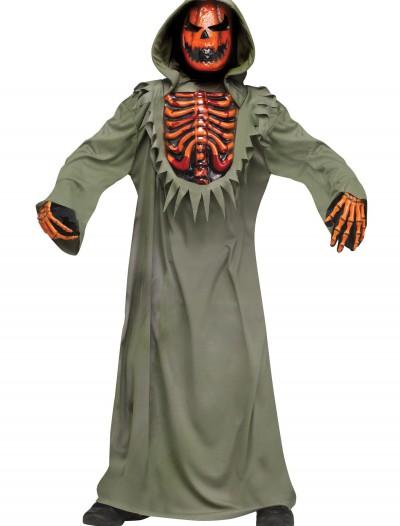 Bleeding Chest Evil Pumpkin Kids Costume, halloween costume (Bleeding Chest Evil Pumpkin Kids Costume)
