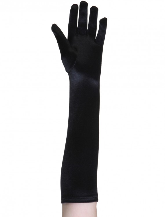 Child Black Gloves, halloween costume (Child Black Gloves)