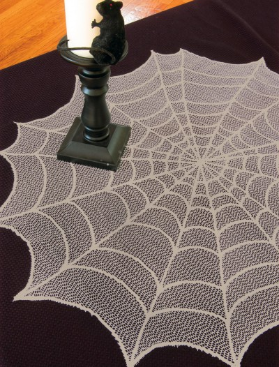 Ghostly Grey Round Table Topper, halloween costume (Ghostly Grey Round Table Topper)