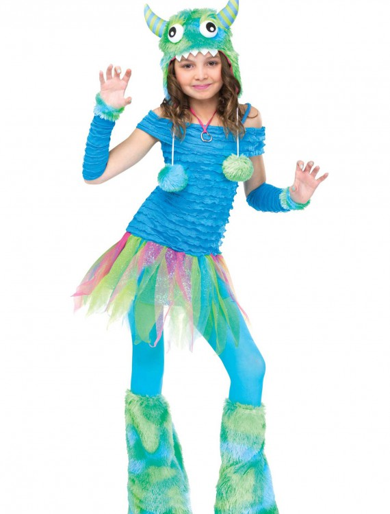 Girls Blue Beastie Monster Costume, halloween costume (Girls Blue Beastie Monster Costume)