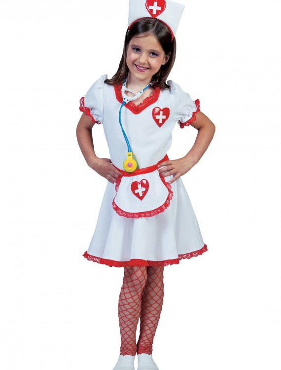 Girls Nurse Nancy Costume, halloween costume (Girls Nurse Nancy Costume)