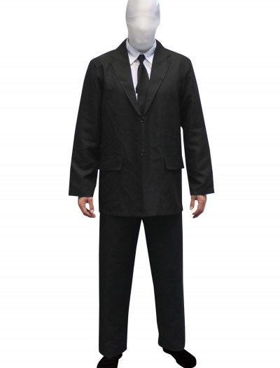 Mens Slenderman costume Morphsuit, halloween costume (Mens Slenderman costume Morphsuit)