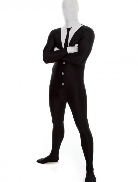 Mens Slenderman Morphsuit, halloween costume (Mens Slenderman Morphsuit)