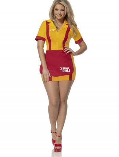 Plus Size 2 Broke Girls Waitress Costume, halloween costume (Plus Size 2 Broke Girls Waitress Costume)