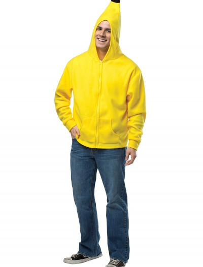 Plus Size Adult Banana Hoodie, halloween costume (Plus Size Adult Banana Hoodie)