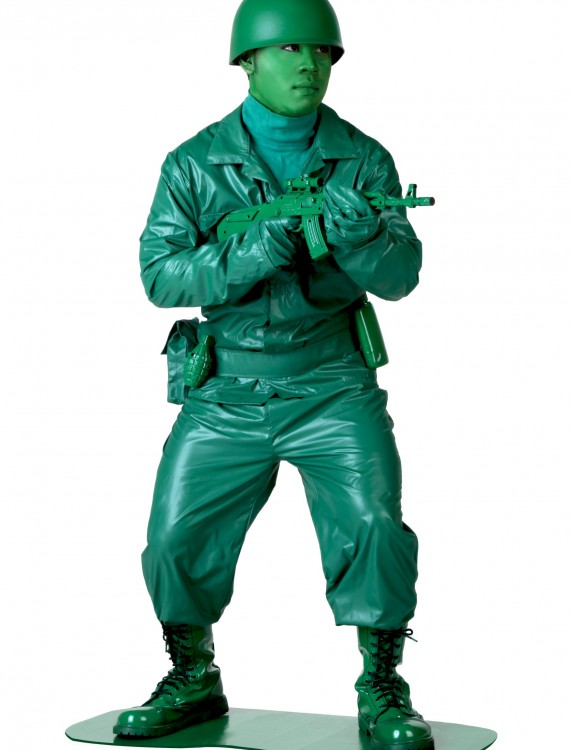 Plus Size Green Army Man Costume, halloween costume (Plus Size Green Army Man Costume)