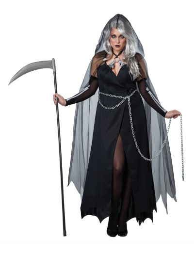 Women's Plus Size Lady Reaper Costume, halloween costume (Women's Plus Size Lady Reaper Costume)