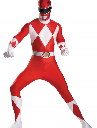 Plus Size Red Ranger Bodysuit Costume, halloween costume (Plus Size Red Ranger Bodysuit Costume)