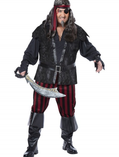 Plus Size Ruthless Rogue Pirate Costume, halloween costume (Plus Size Ruthless Rogue Pirate Costume)