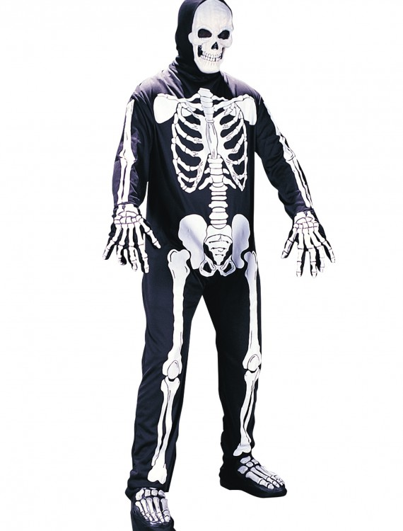 Plus Size Scary Skeleton Costume, halloween costume (Plus Size Scary Skeleton Costume)