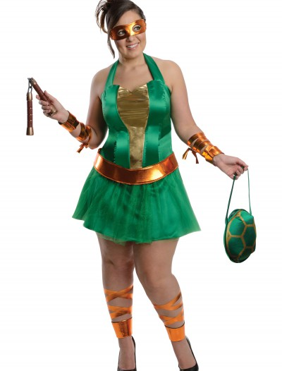 Plus Size Sexy TMNT Michelangelo Costume, halloween costume (Plus Size Sexy TMNT Michelangelo Costume)