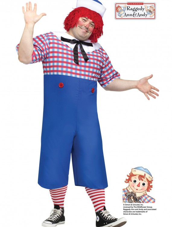 Raggedy Andy Adult Plus Size Costume, halloween costume (Raggedy Andy Adult Plus Size Costume)