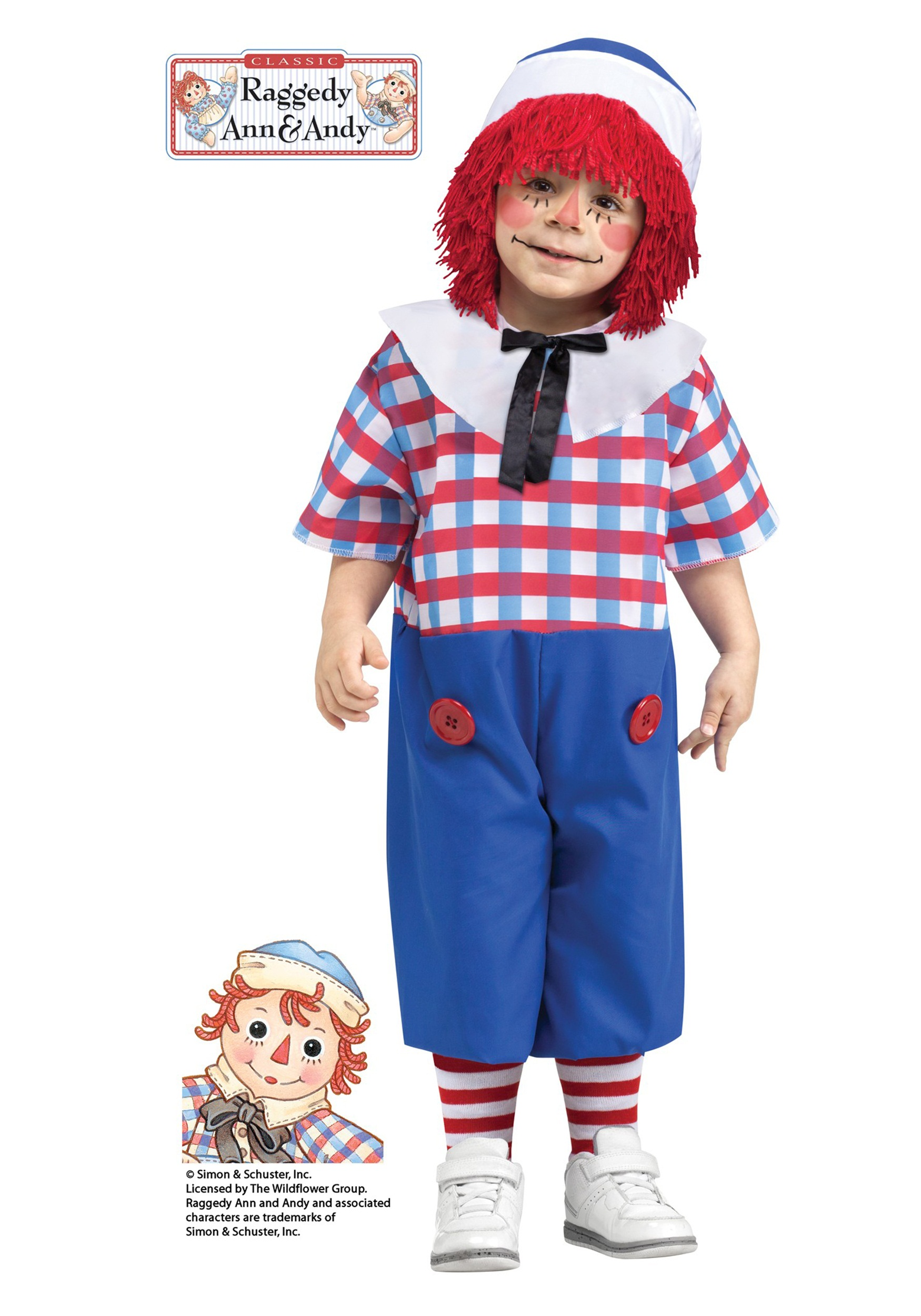 Raggedy Andy Toddler Costume  sc 1 st  Halloween Costumes & Raggedy Andy Toddler Costume - Halloween Costumes