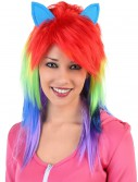 Rainbow Pony Wig, halloween costume (Rainbow Pony Wig)