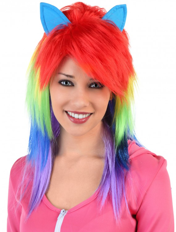 Rainbow Pony Wig, halloween costume (Rainbow Pony Wig)