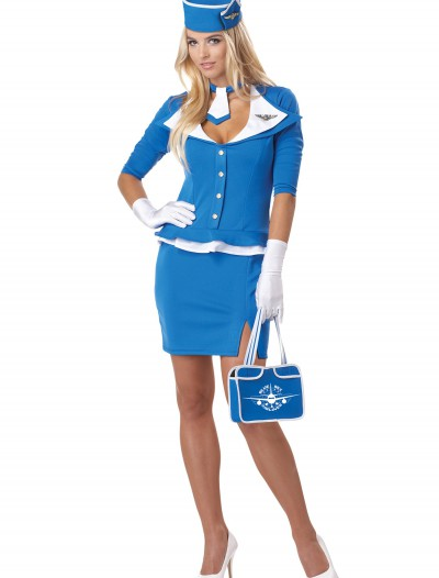 Retro Stewardess Costume, halloween costume (Retro Stewardess Costume)