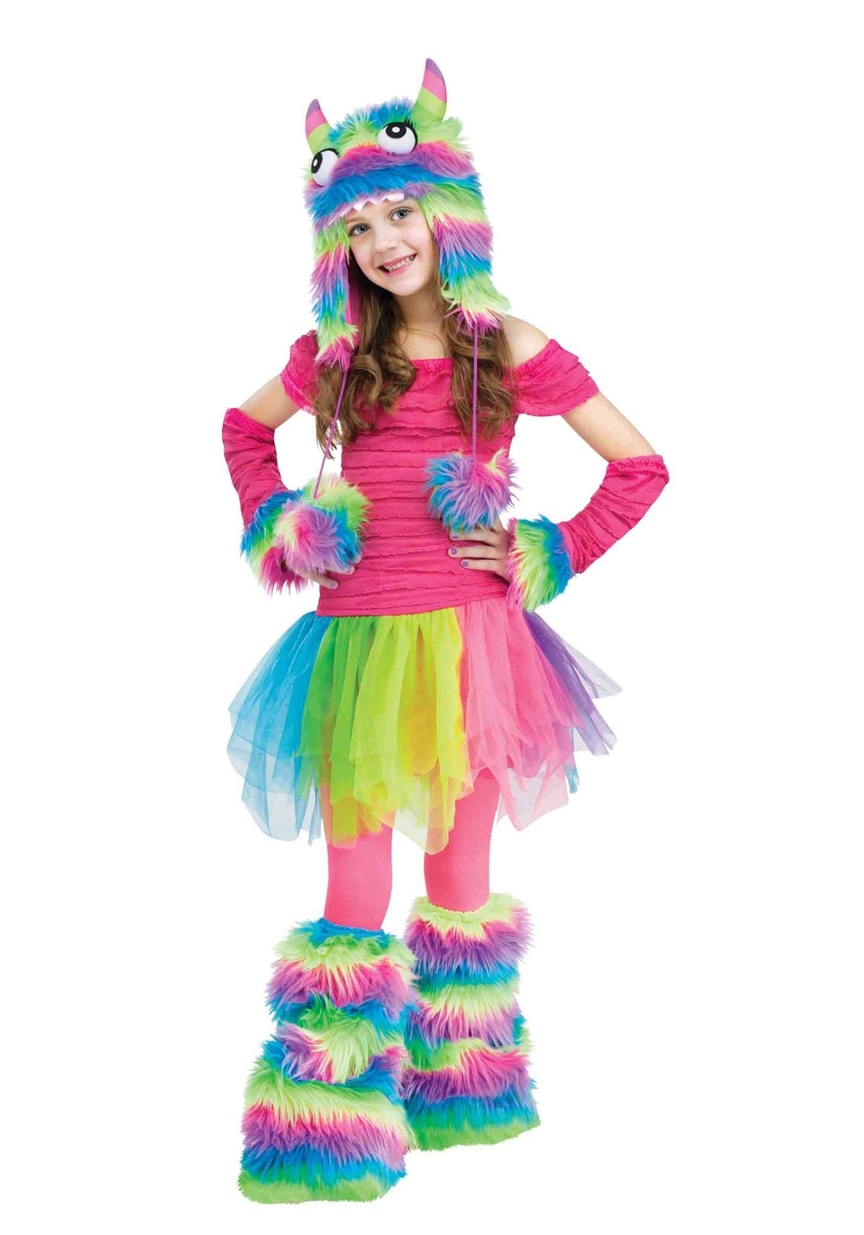 rockin' rainbow monster child costume - halloween costumes
