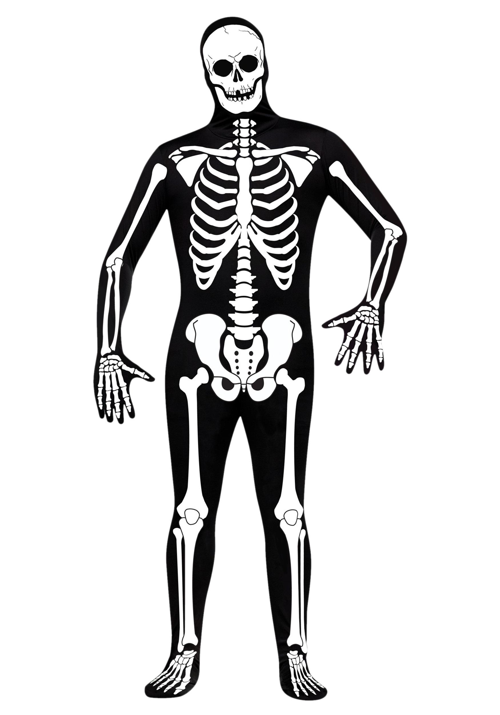 Skeleton Outfit Halloween.Skeleton Zentai Suit