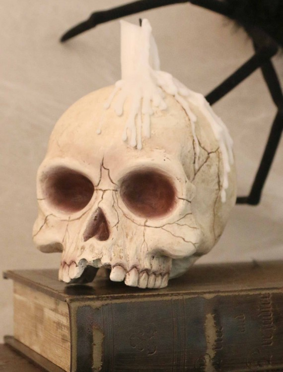 Skull Candle Holder, halloween costume (Skull Candle Holder)