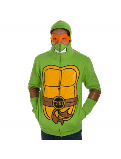 TMNT Full Zip Hoodie with Mask, halloween costume (TMNT Full Zip Hoodie with Mask)