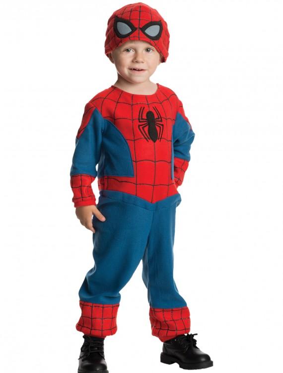 Toddler Amazing Spider-Man Fleece Jumpsuit, halloween costume (Toddler Amazing Spider-Man
