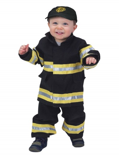Toddler Black and Yellow Firefighter Costume, halloween costume (Toddler Black and Yellow Firefighter Costume)