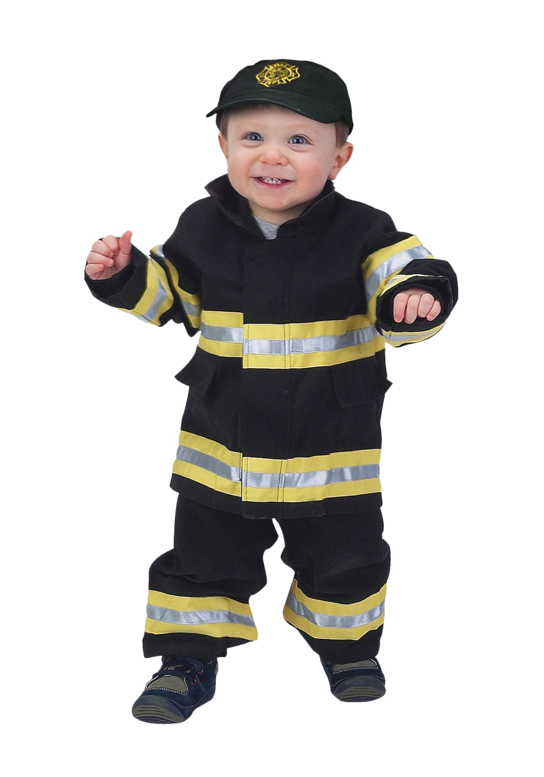 toddler black and yellow firefighter costume - Fireman Halloween