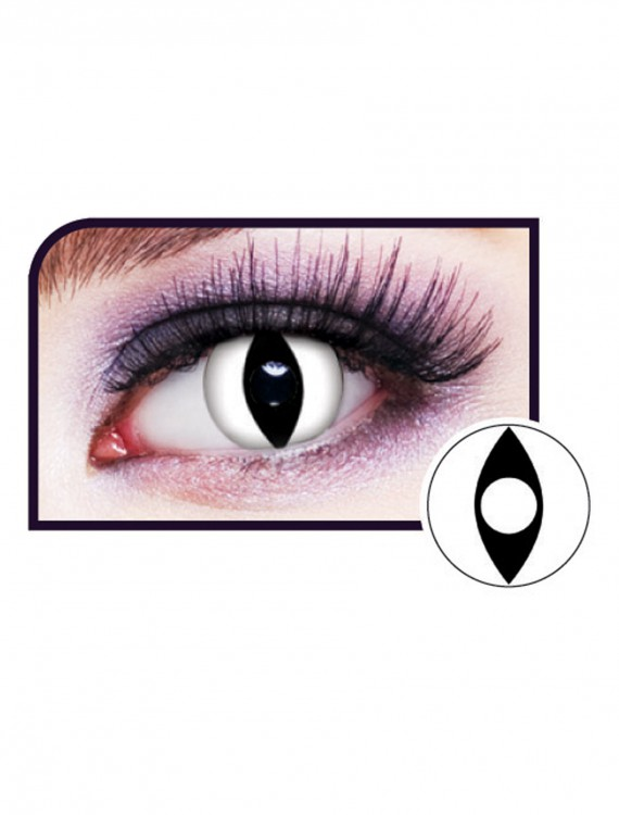 White Cat Eye Contact Lenses, halloween costume (White Cat Eye Contact Lenses)