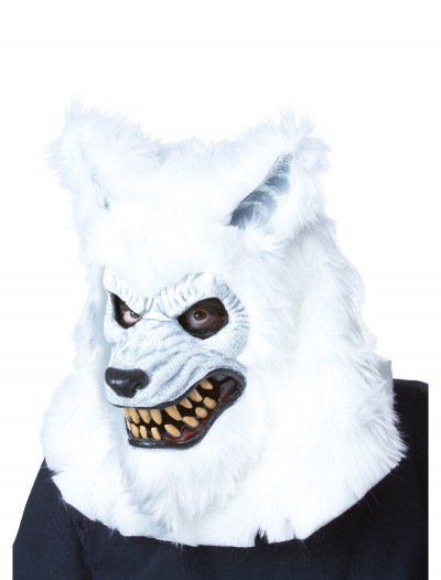 White Werewolf Ani-Motion Mask, halloween costume (White Werewolf Ani-Motion Mask)