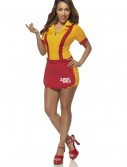 Womens 2 Broke Girls Waitress Costume, halloween costume (Womens 2 Broke Girls Waitress Costume)