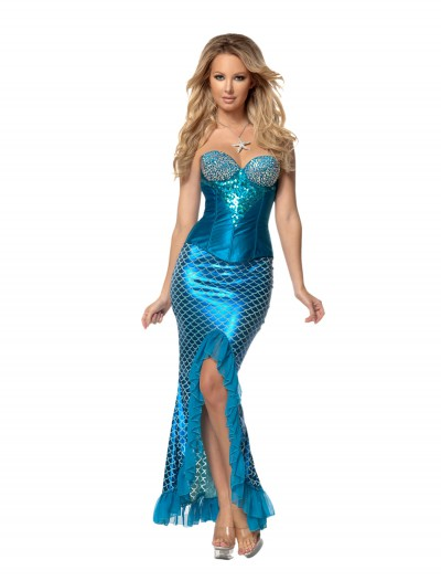 Womens Deluxe Blue Mermaid, halloween costume (Womens Deluxe Blue Mermaid)