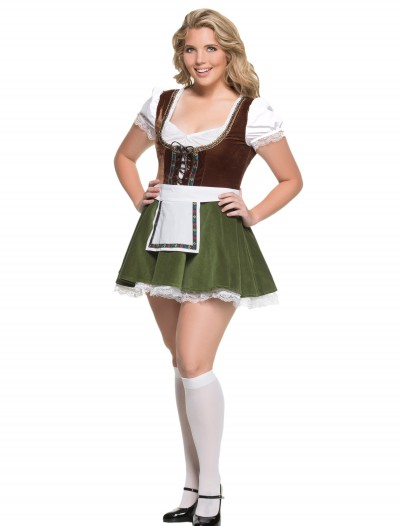 Women's Plus Size Bavarian Girl Costume, halloween costume (Women's Plus Size Bavarian Girl Costume)