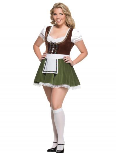 Women's Plus Size Bavarian Girl Costume, halloween costume (Women's Plus Size Bavarian Girl Costume)