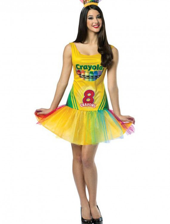 Women's Tutu Crayon Dress, halloween costume (Women's Tutu Crayon Dress)