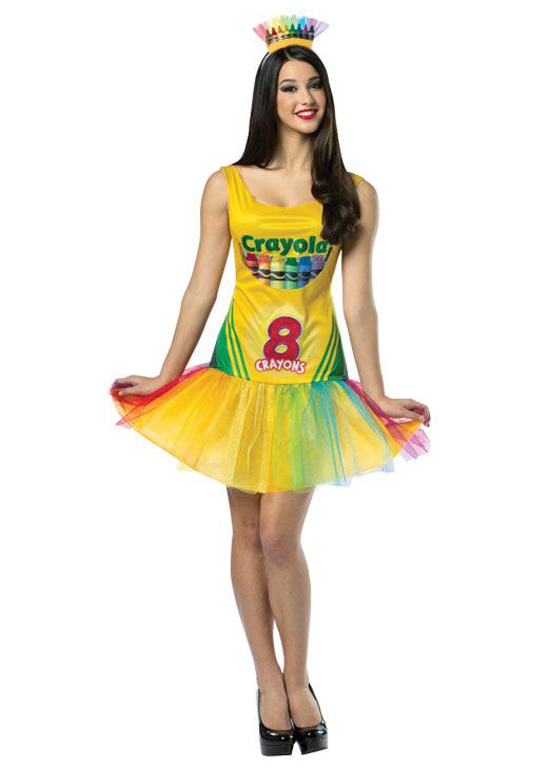 Womenu0027s Tutu Crayon Dress  sc 1 st  Halloween Costumes & Womenu0027s Tutu Crayon Dress - Halloween Costumes